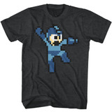 Mega Man Jumpman Black Heather Adult T-Shirt