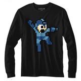 Mega Man Jumpman Black Adult Long Sleeve T-Shirt