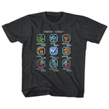 Mega Man Stage Select Black Heather Children's T-Shirt