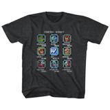 Mega Man Stage Select Black Heather Children's T-Shirt