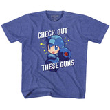 Mega Man Check It Out Vintage Royal Children's T-Shirt