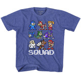 Mega Man Squad Vintage Royal Children's T-Shirt