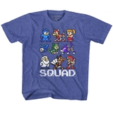 Mega Man Squad Vintage Royal Children's T-Shirt