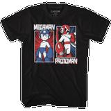 Mega Man Rock And Blues Black Adult T-Shirt