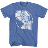 Mega Man Fist Pump Royal Heather Adult T-Shirt