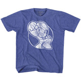 Mega Man Fist Pump Vintage Royal Youth T-Shirt