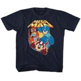 Mega Man Flat Colors Navy Toddler T-Shirt