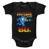 Mega Man Made In The 80's Black Baby Onesie T-Shirt