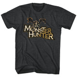 Monster Hunter Logo Black Heather Adult T-Shirt
