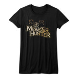 Monster Hunter Logo Black Junior Women's T-Shirt