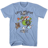 Monster Hunter Airou Hunter Light Blue Heather Adult T-Shirt
