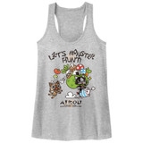 Monster Hunter Airou Hunter Gray Heather Junior Women's Racerback Tank Top T-Shirt