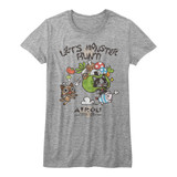 Monster Hunter Airou Hunter Gray Heather Junior Women's T-Shirt