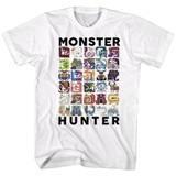 Monster Hunter Let's Hunt White Adult T-Shirt
