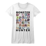 Monster Hunter Let's Hunt White Junior Women's T-Shirt