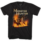 Monster Hunter Beast Black Adult T-Shirt