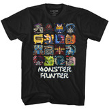 Monster Hunter Symbols Black Adult T-Shirt