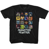 Monster Hunter Symbols Black Toddler T-Shirt