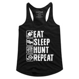 Monster Hunter Hunt Repeat Black Junior Women's Racerback Tank Top T-Shirt