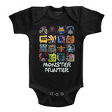 Monster Hunter Symbols Black Baby Onesie T-Shirt