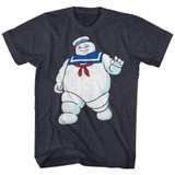 The Real Ghostbusters Mr Stay Puft Navy Heather T-Shirt