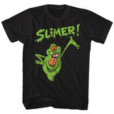 The Real Ghostbusters Slimer! Black T-Shirt