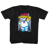The Real Ghostbusters Marshmallow Attacks Black Children's T-Shirt