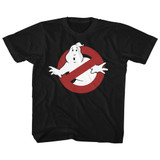 The Real Ghostbusters Symbol Black Children's T-Shirt