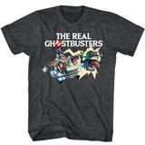The Real Ghostbusters Car Chase Black Heather T-Shirt