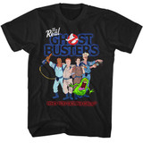 The Real Ghostbusters Group3 Black T-Shirt