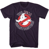 The Real Ghostbusters Real GB Blackberry Heather T-Shirt
