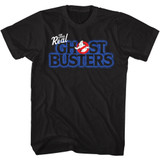 The Real Ghostbusters Real Logo Black T-Shirt