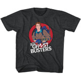 The Real Ghostbusters Venkman Black Heather Children's T-Shirt