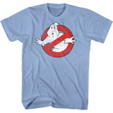 The Real Ghostbusters Logo Light Blue Heather T-Shirt