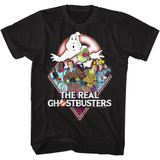 The Real Ghostbusters Real GB Black T-Shirt