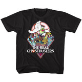 The Real Ghostbusters Real GB Black Children's T-Shirt