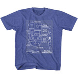The Real Ghostbusters Blueprints Vintage Royal Children's T-Shirt