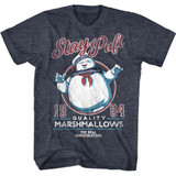 The Real Ghostbusters Staypuft Navy Heather T-Shirt