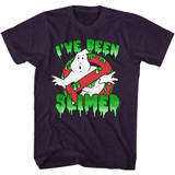 The Real Ghostbusters Slimed! Blackberry Heather T-Shirt