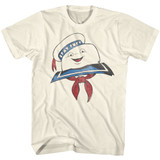 The Real Ghostbusters Stay Puft Head Natural T-Shirt