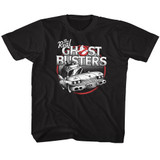 The Real Ghostbusters The Car Black Youth T-Shirt