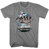 The Real Ghostbusters Bustin' Buddies Graphite Heather T-Shirt