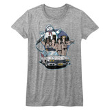 The Real Ghostbusters Bustin' Buddies Gray Heather Junior Women's T-Shirt