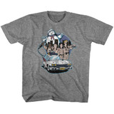 The Real Ghostbusters Bustin' Buddies Graphite Heather Youth T-Shirt