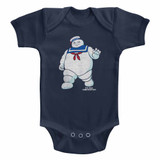The Real Ghostbusters Mr Stay Puft 2 Navy Infant Baby Onesie