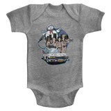 The Real Ghostbusters Bustin' Buddies Gray Heather Infant Baby Onesie