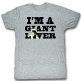 Andre The Giant Giant Lover Gray Heather Adult T-Shirt