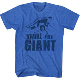 Andre The Giant Andre Blue Royal Heather Adult T-Shirt