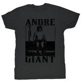 Andre The Giant Black Heather Adult T-Shirt