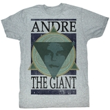 Andre The Giant Andre Geometric Gray Heather Adult T-Shirt